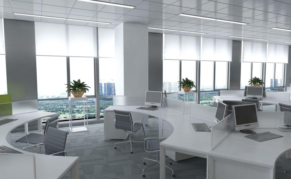 Meble biurowe białe nowoczesne