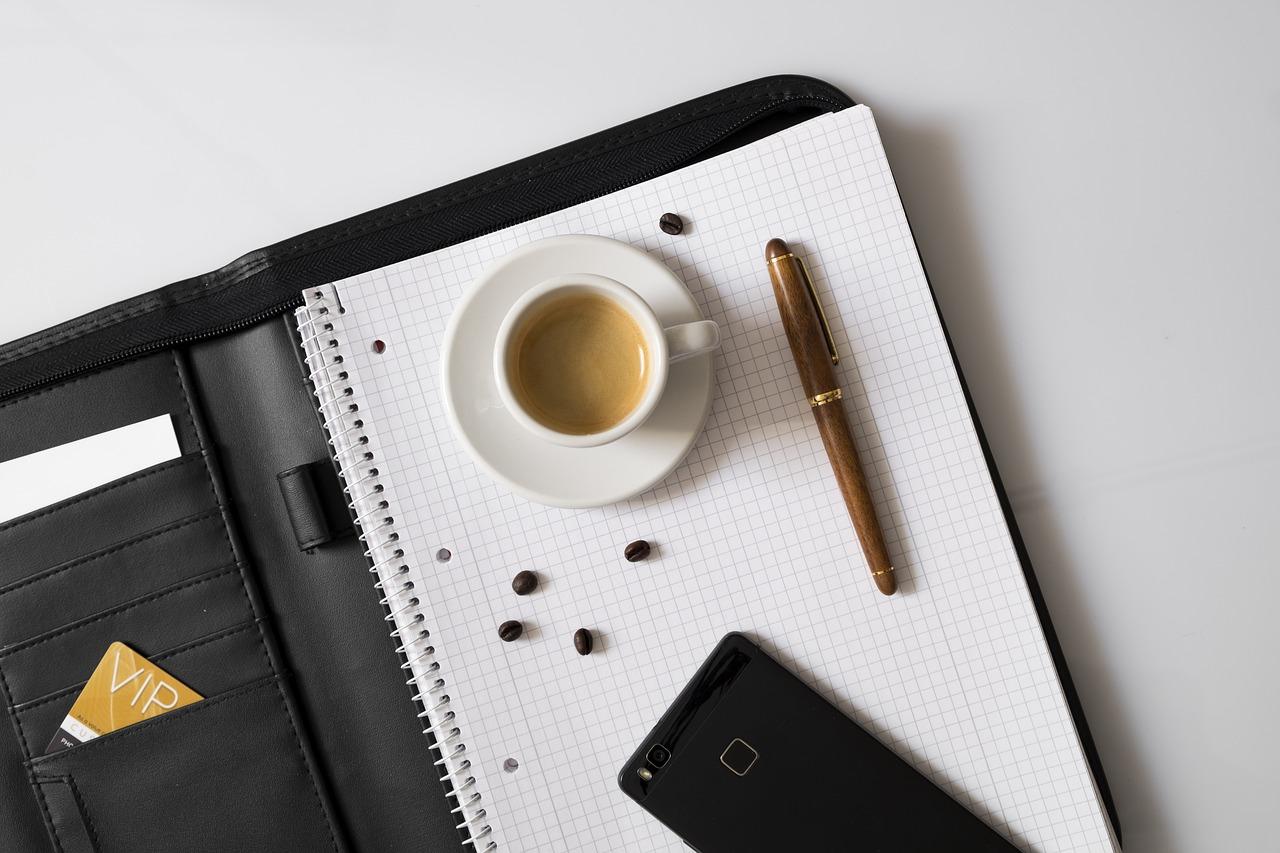 teczka i kawa
